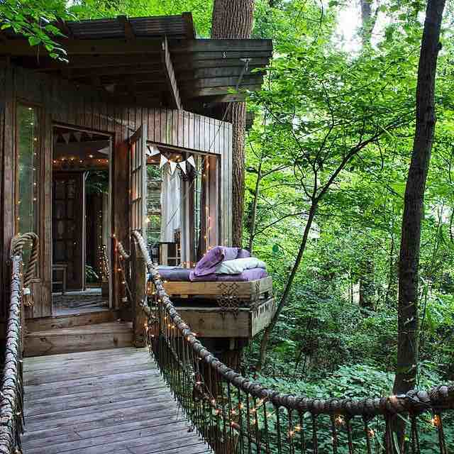 Sleep Outside in a Treehouse
