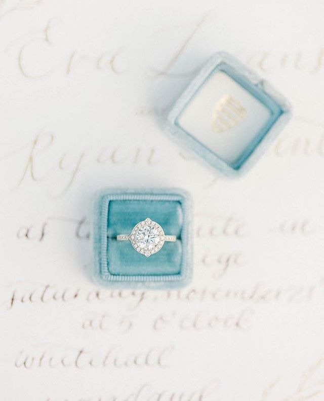 Gorgeous Diamond Engagement Ring in Blue Box