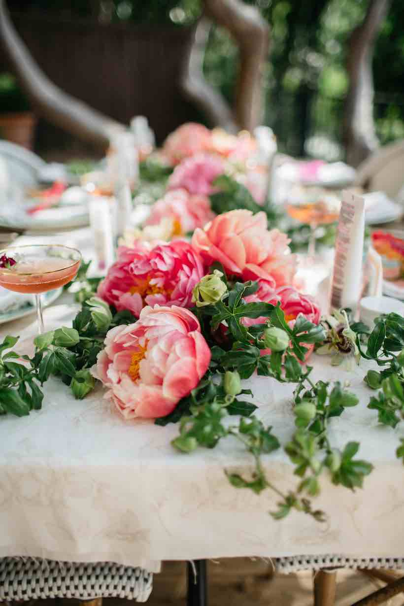 Peony Table Setting