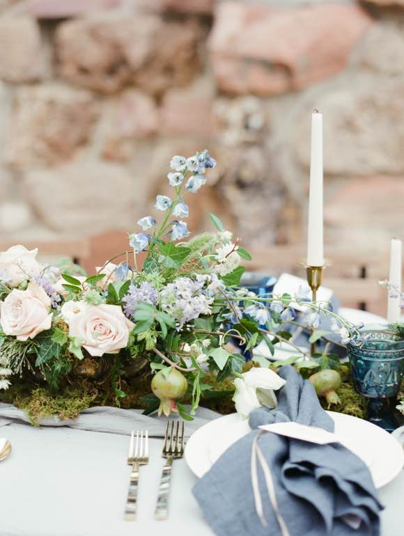 Floral Style Wedding Table Setting
