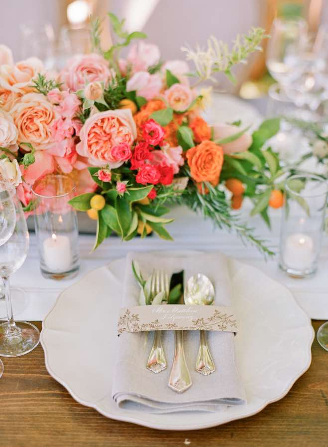 Bright Florals Table Setting