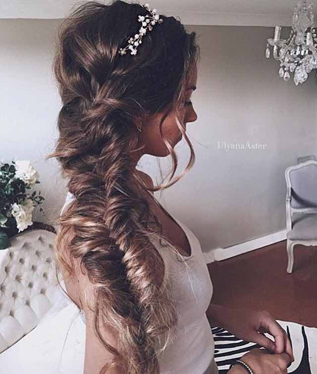 Soft and Messy Fishtail Bridal Braid
