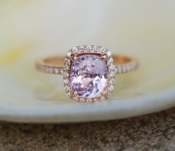 Lavender Sapphire Engagement Ring