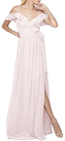 Pastel Pink Ruffled Dress