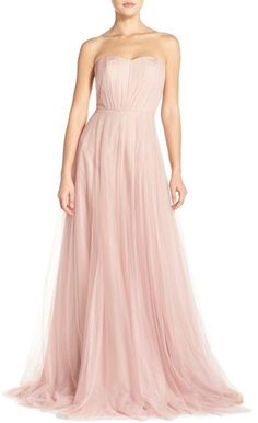 Pastel Pink Bridesmaid Dress