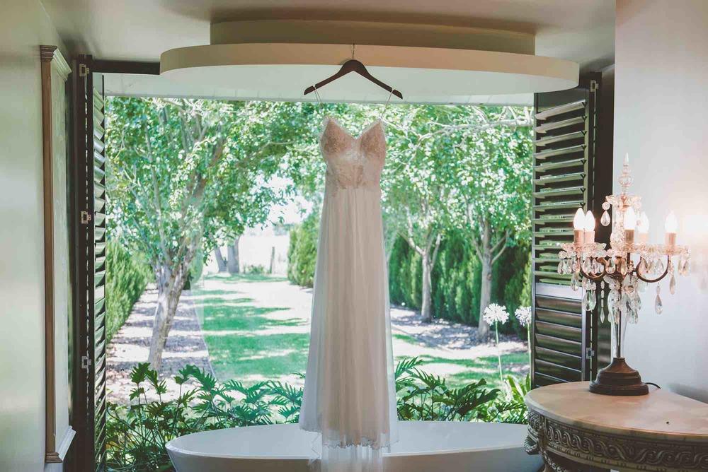 Handing Wedding Dress