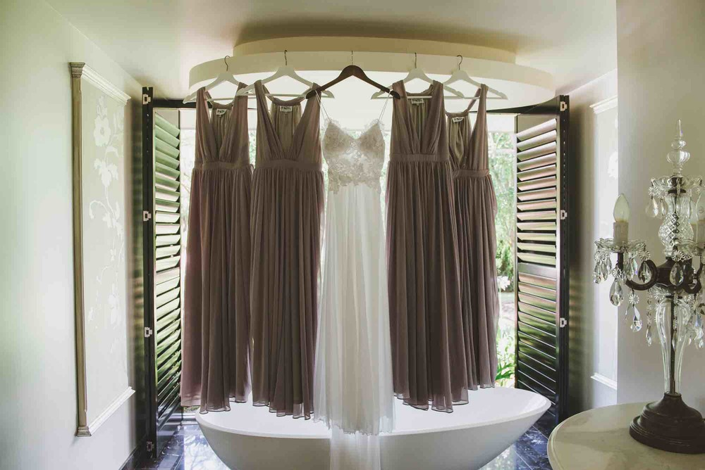 Bridesmaids Dresses with Bridal Gown