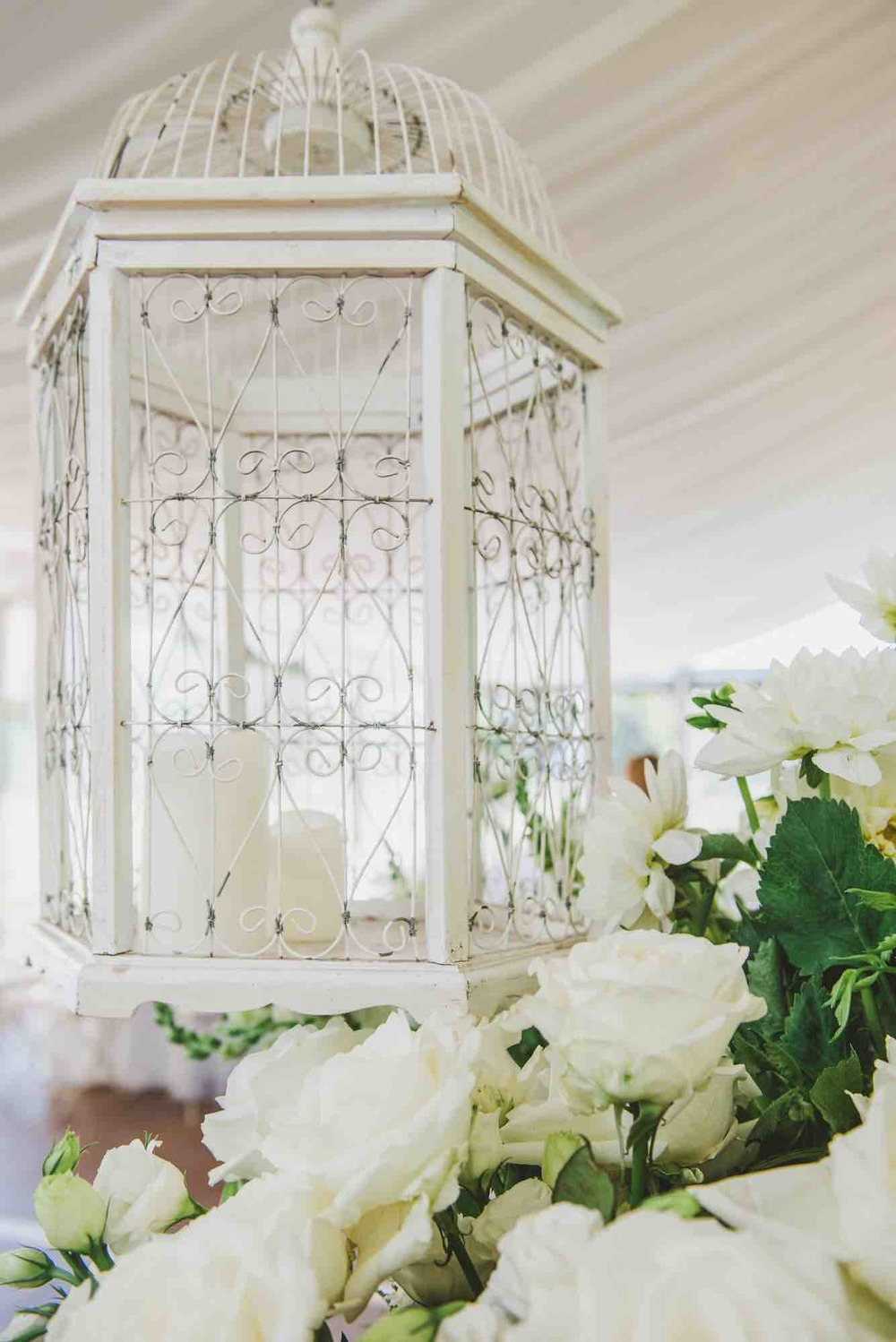 White Wedding Decor Details