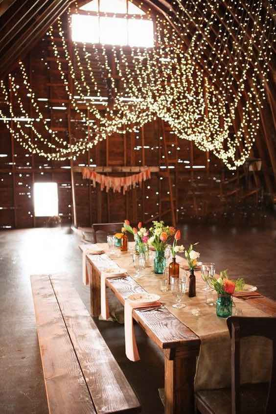 Barn with Hanging Lights