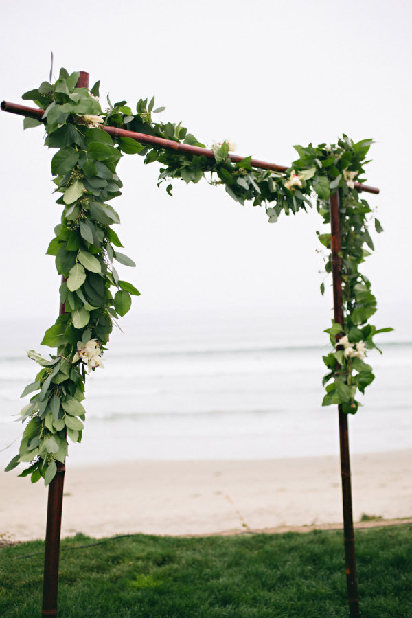 Greenery Wedding Arch with White Flowers