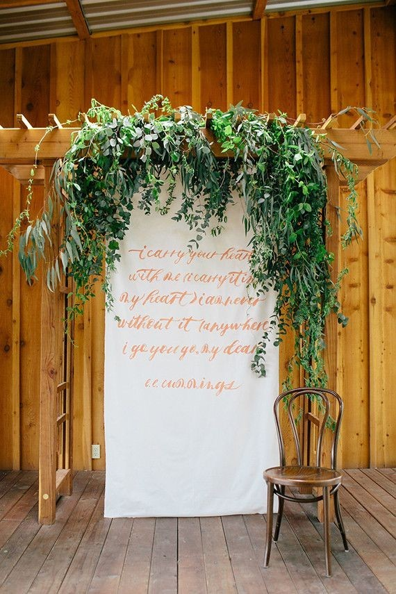 Greenery Backdrop Handwriting