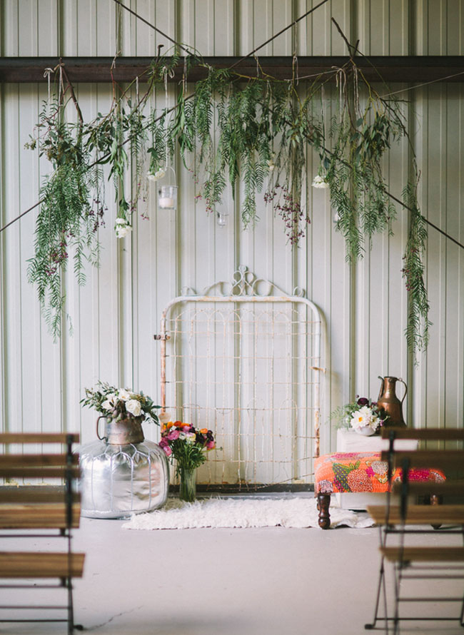 Greenery and Bedpost Backdrop