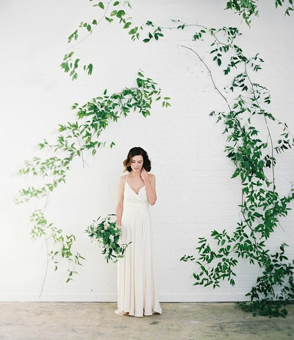 Vine Arbor Wedding Greenery