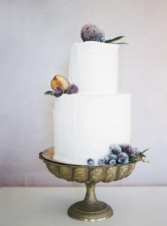 Wedding Cake Minimalist with Fruit Accent