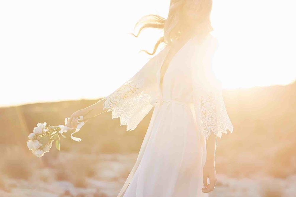 Lost in Love Photography Bride in Robe Free Spirt
