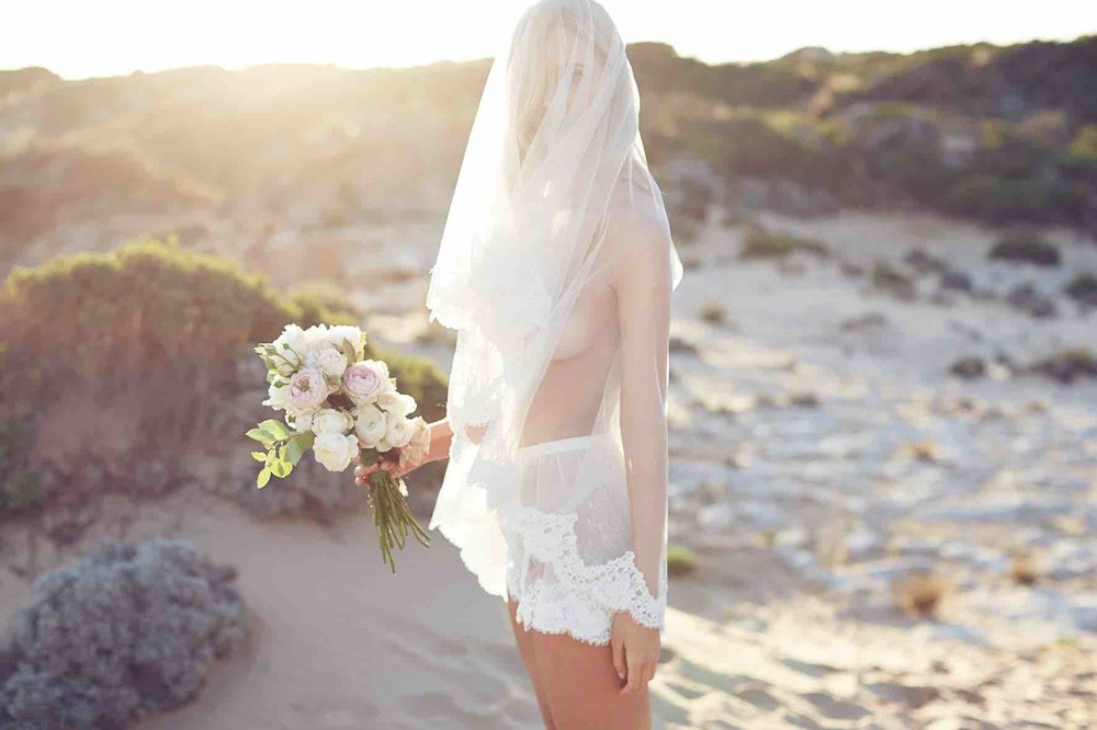Lost in Love Photography - Wedding Lingerie Side with Veil