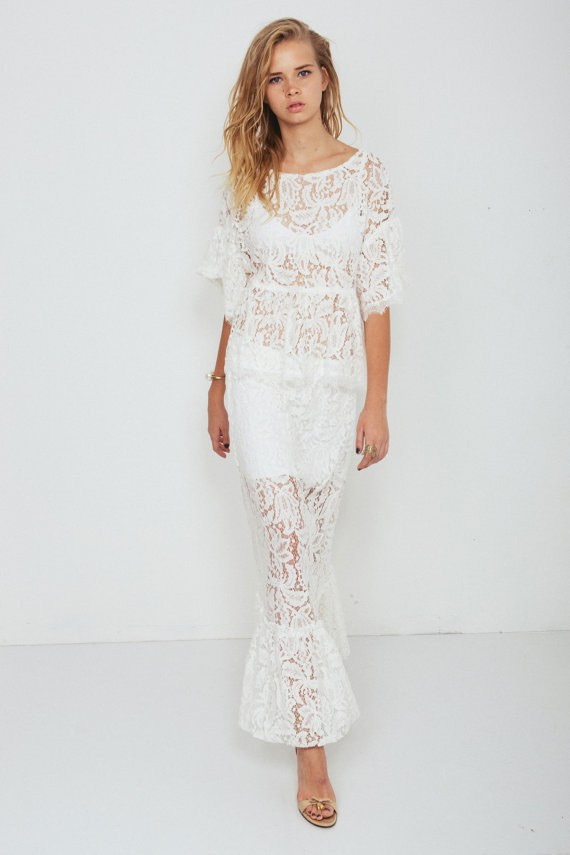 Bohemian Wedding Dress Combo