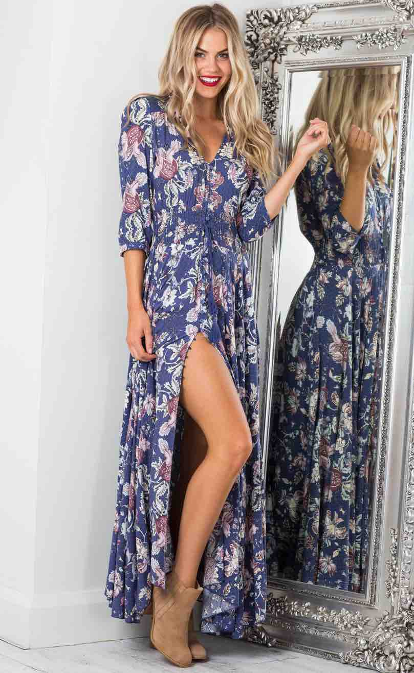 Lone Traveler Maxi Dress from Showpo