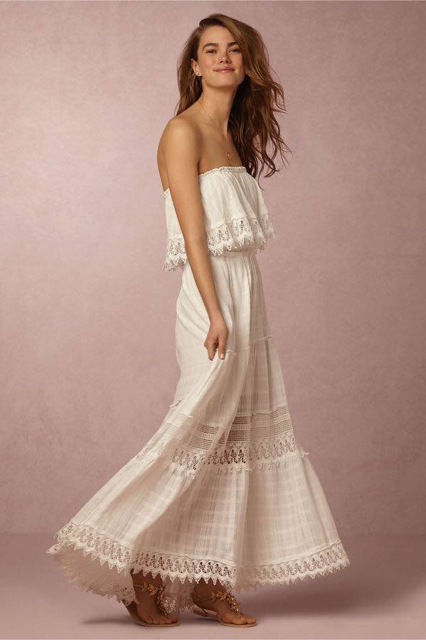 BHLDN Flouncy Maxi Dress