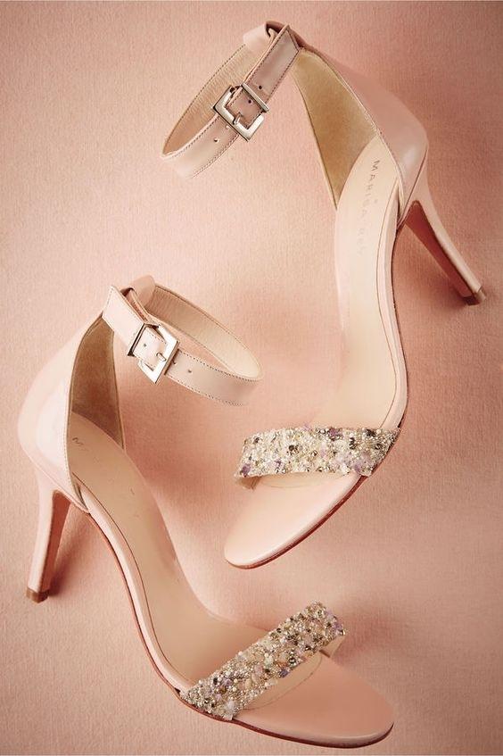 BHLDN Rose High Heels