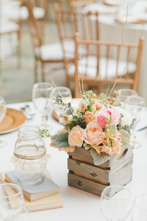 California Wedding Floral Table Setting