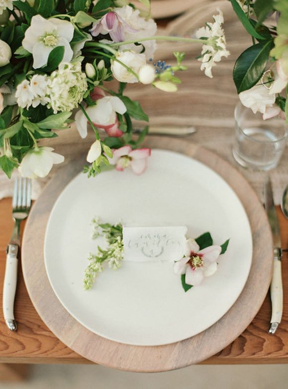 Floral Rustic Table Setting