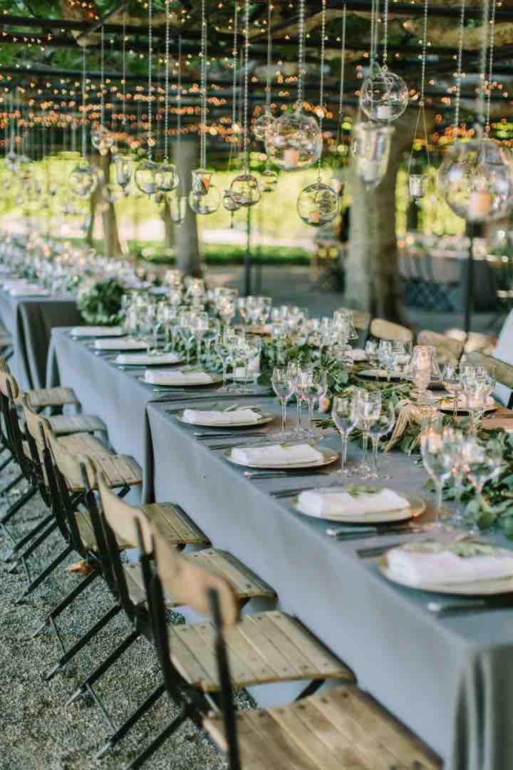 Napa Outdoor Table Setting Side