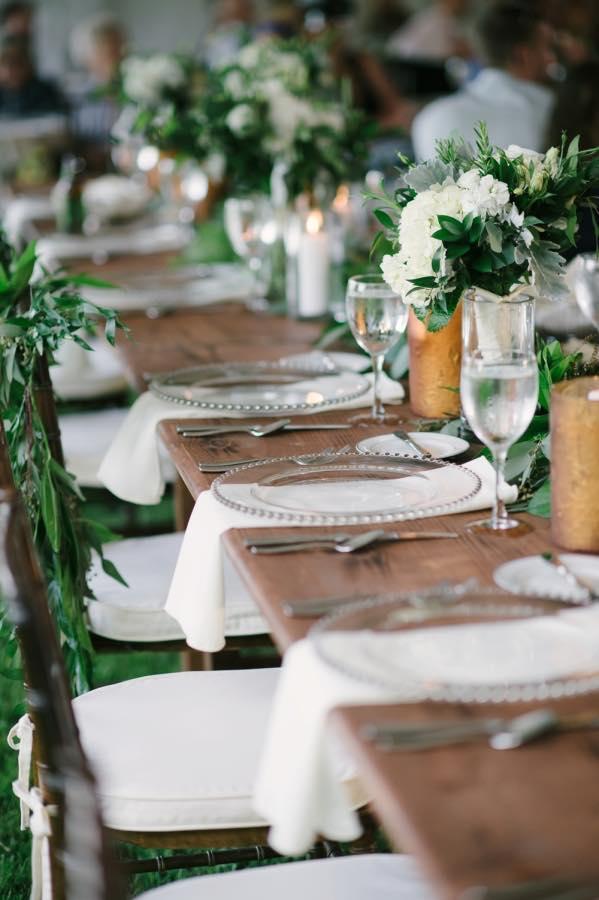 Organic Rustic Table Setting Decor