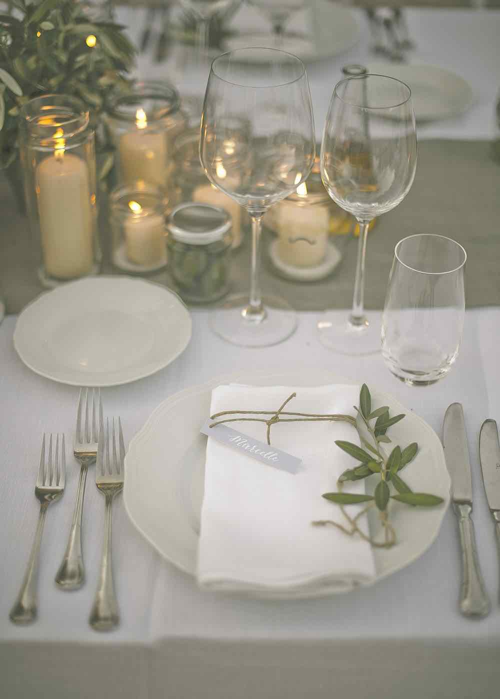 Candelight Table Setting