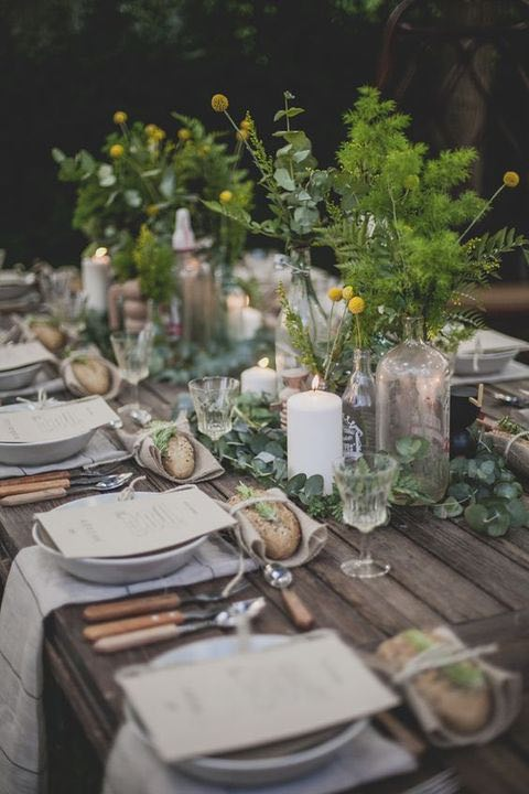 Woodland Rustic Table Setting