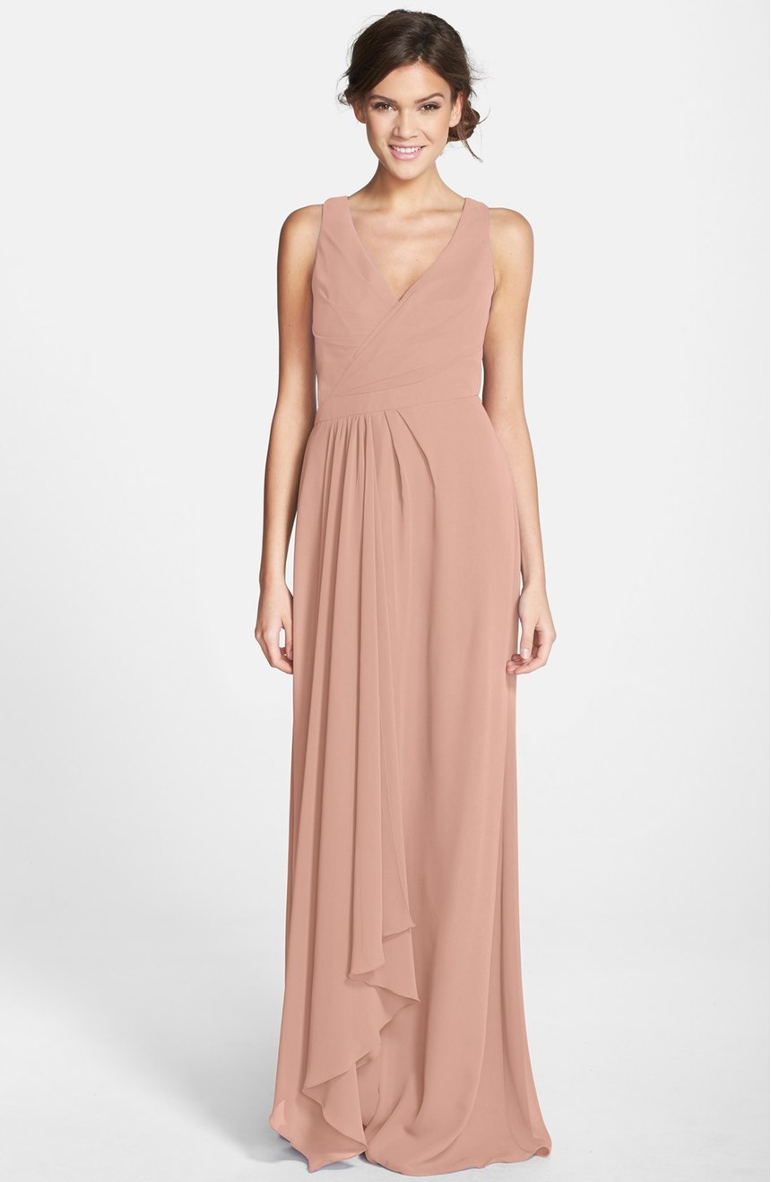 Nude Monique LHuillier Maxi Dress