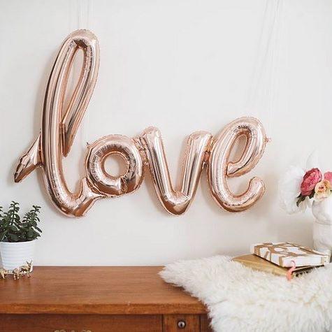 Rose Gold Metallic Love Balloon