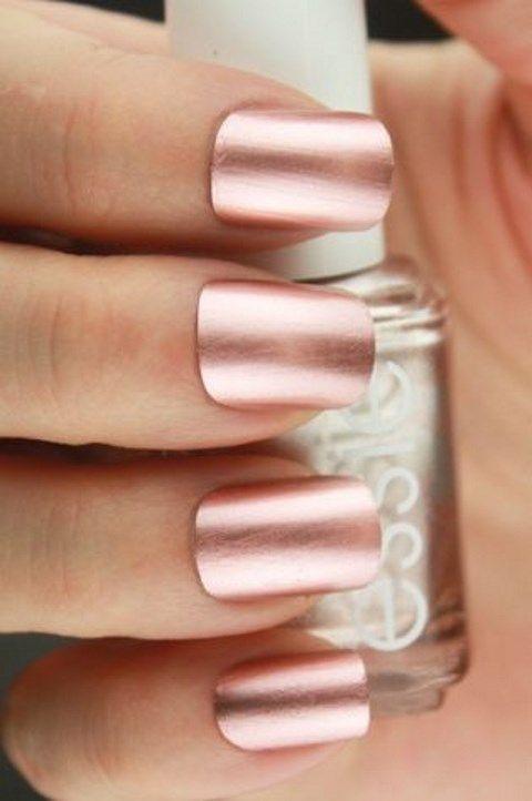 Rose Gold Metallic Nail Polish