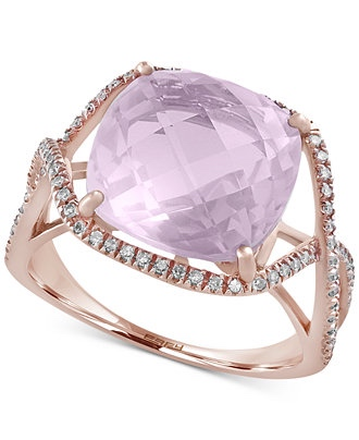 Lavender Quartz Engagement Ring