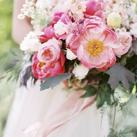 Pink Floral Wedding Bouquet
