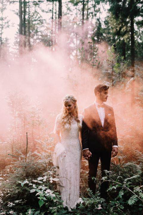 Smoke in the Woods with Boho Couple