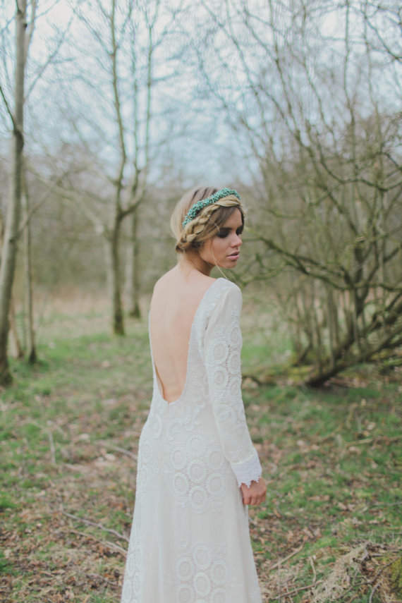 Meadow Long Sleeve Lace Wedding Dress