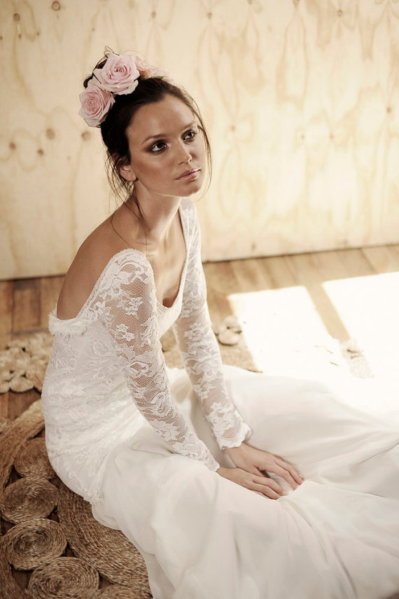 Grace Loves Lace Wedding Dress with Low Back and Sleeves