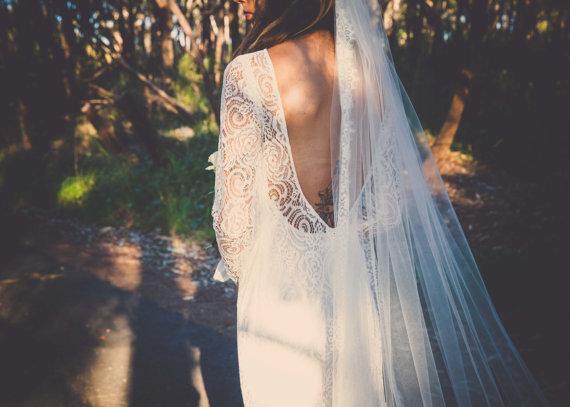 Low Back Wedding Dress Details