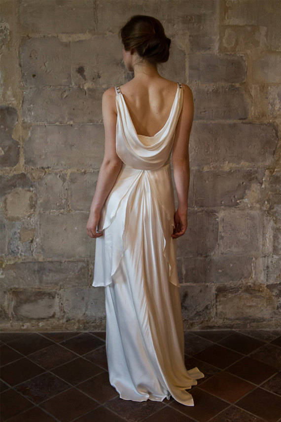 Gatsby Style Wedding Dress with Low Back