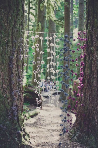 Forest Hanging Flower Backdrop