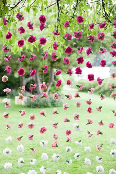 Pink Ombre Hanging Flower Backdrop