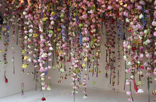 Large Hanging Floral Garland Backdrop