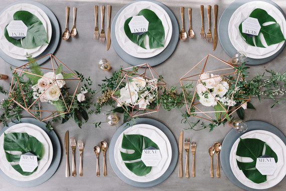 14 Geometric Wedding Table Decor Ideas The Bohemian Wedding