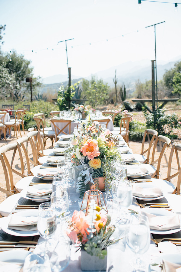 Desert Wedding Tablescape Details