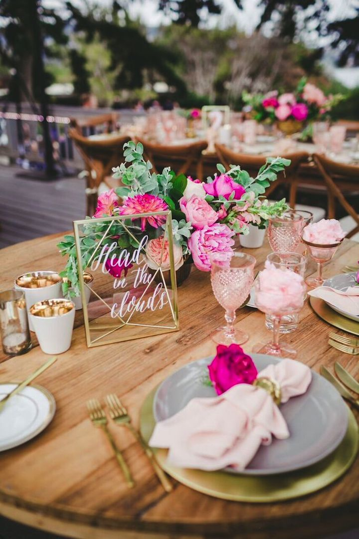 14 geometric wedding table decor ideas the bohemian wedding junglespirit Choice Image