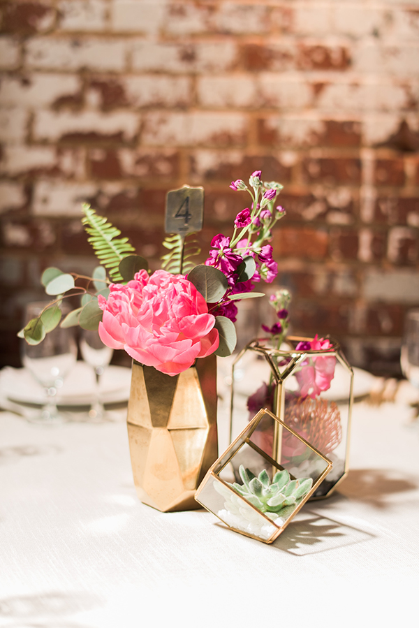 Gold Geometric Table Centrepieces