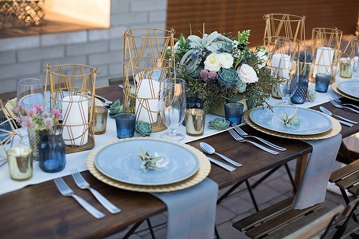 Modern Geometric Table Decor