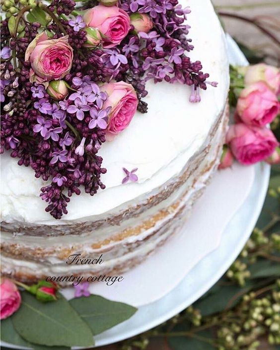 White and Lavender Floral Semi-Naked Wedding Cake.jpg