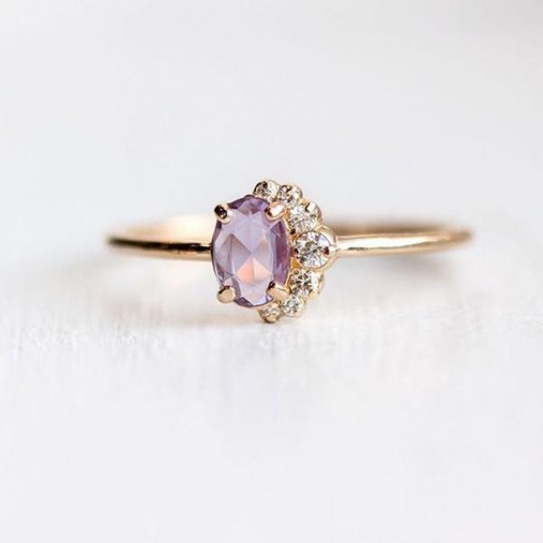 Purple Sapphire Engagement Ring